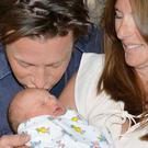 Jamie and Jools Oliver with baby River Rocket