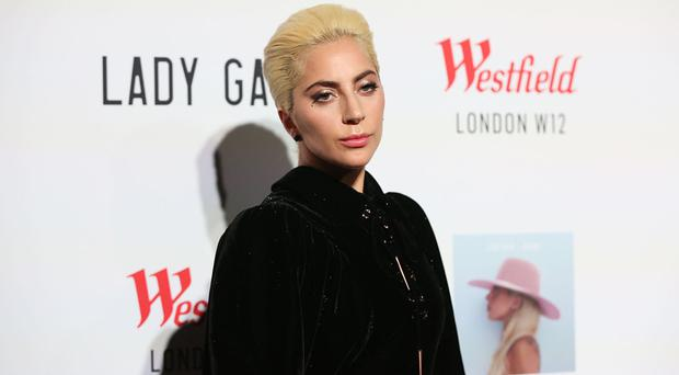 Lady Gaga at Westfield in west London, ahead of a surprise performance for fans