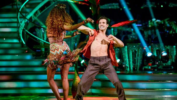 Oti Mabuse and Danny Mac during rehearsals for Strictly Come Dancing
