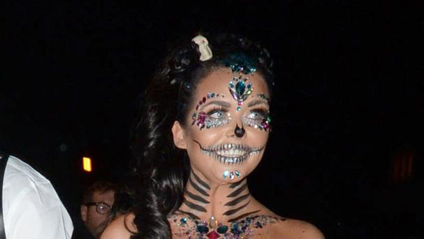 Scarlett Moffatt arriving at a Halloween party hosted by Jonathan Ross