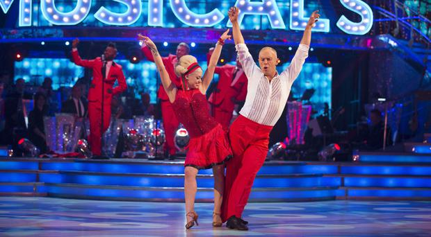 Judge Robert Rinder and his Strictly partner Oksana Platero (BBC)
