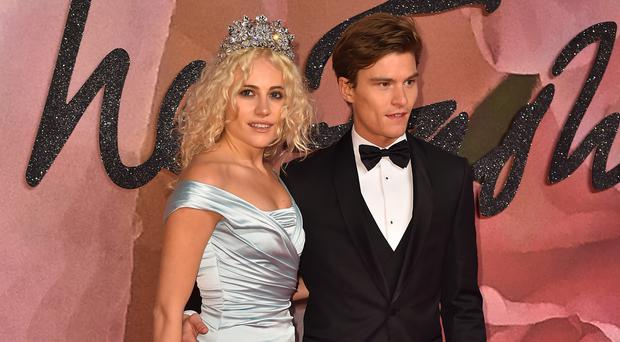 Pixie Lott and Oliver Cheshire at the Fashion Awards 2016 at the Royal Albert Hall