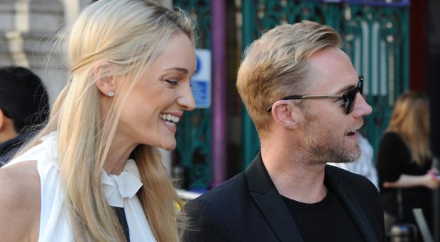 Ronan Keating and wife, Storm. She announced the baby news on her blog