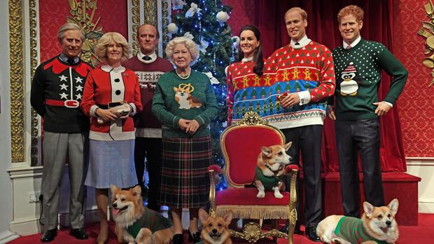 The royals get into the Christmas spirit with festive sweaters - kinda