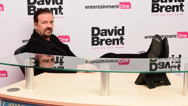 Ricky Gervais attending the world premiere of David Brent: Life On The Road at Leicester Square, London