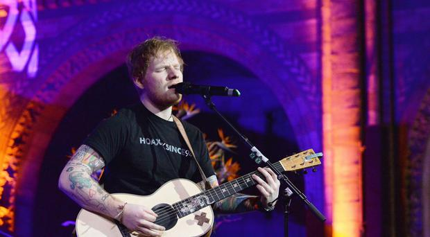 Ed Sheeran performs at East Anglia's Children's Hospices gala dinner