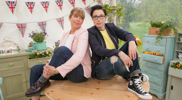 Sue Perkins, right, and Mel Giedroyc opted to stay at the BBC when The Great British Bake Off moves to Channel 4