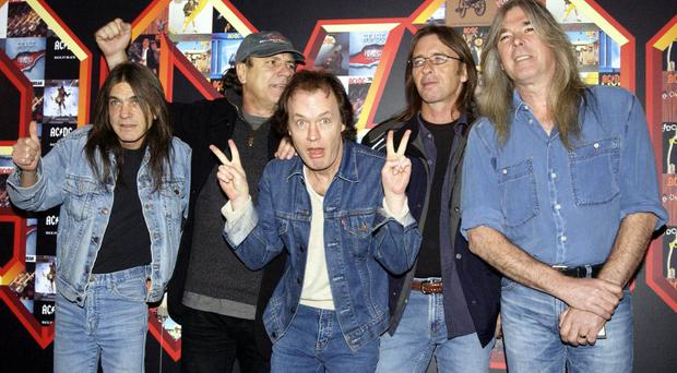 Phil Rudd (second from right) has not ruled out a new venture with AC/DC
