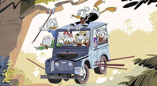 A scene from Disney's DuckTales (Disney XD via AP)