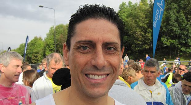 CJ de Mooi at the start line of the Great North Run in Newcastle