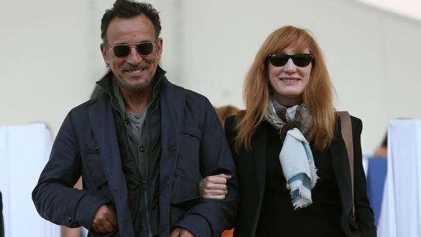 Bruce Springsteen started working with Patti Scialfa in 1984 when she joined his E Street Band