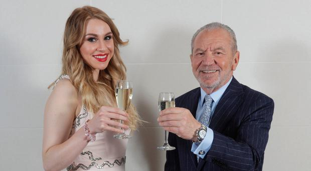 Apprentice winner Alana Spencer with Lord Sugar