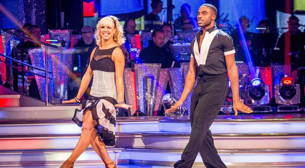 TV presenter Ore Oduba practising the dance that helped him to win the Strictly crown for 2016