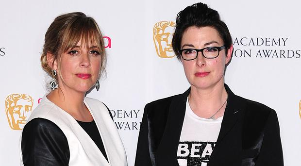 Former Bake Off presenters Mel Giedroyc and Sue Perkins