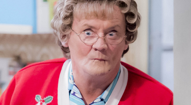 Scenes from this year's Mrs Brown's Boys special