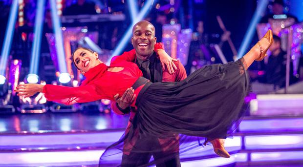 Melvin Odoom and his dance partner Janette Manrara were the first couple to leave this year's Strictly Come Dancing contest (BBC/PA)