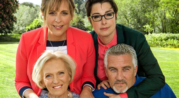 The Boxing Day episode marked the last time that the four hosts would come together in the Bake Off tent on the BBC (BBC/PA)
