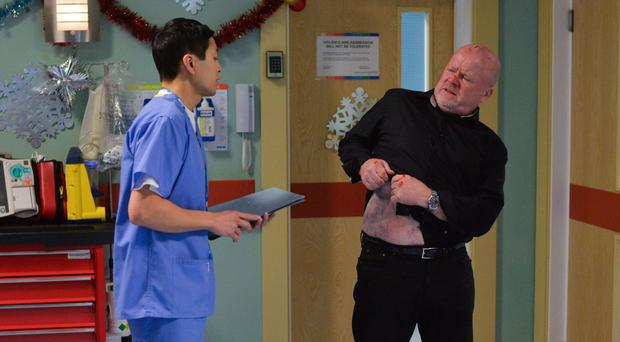 Phil Mitchell succumbed further to liver failure this Christmas (BBC/PA)
