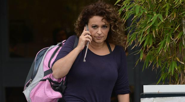 Nadia Sawalha said that Christmas is a difficult time for alcoholics
