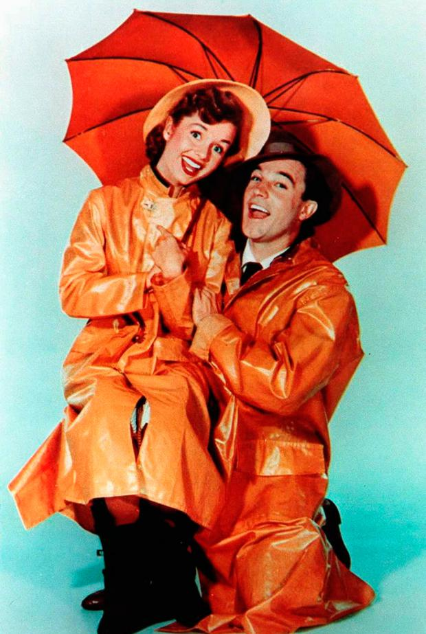 Debbie with Gene Kelly in Singin' In The Rain