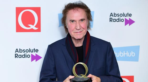 Ray Davies with the award for Classic Songwriter at the Q Awards 2016