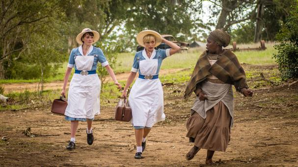 A scene from the Christmas special of Call The Midwife, which was set in South Africa (BBC)