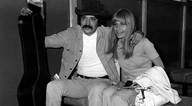 Peter Starstedt with his Swedish fiancee at Heathrow in 1969