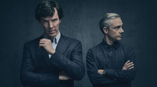 Fans are being invited to try to beat Sherlock (Benedict Cumberbatch, left) and Watson (Martin Freeman) at their own game via Twitter