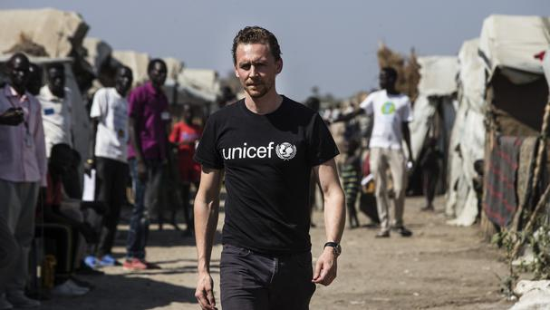 Tom Hiddleston visiting Juba, South Sudan