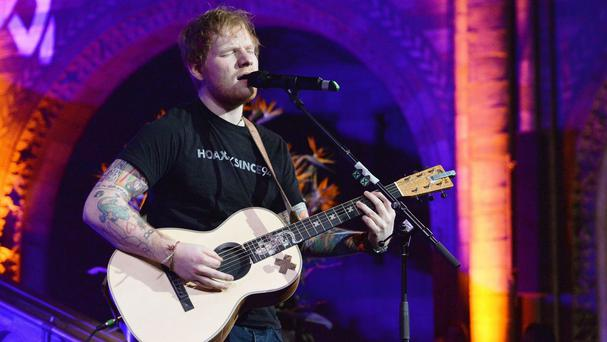 Ed Sheeran has songs at numbers one and two in the chart