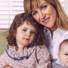Actress Katherine Kelly with daughters Orla and Rose as she appears in this week's edition of Hello! (Hello!/PA Wire)