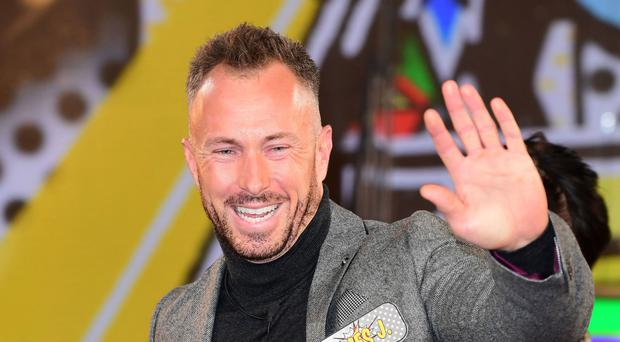 James Jordan enters the Celebrity Big Brother house.