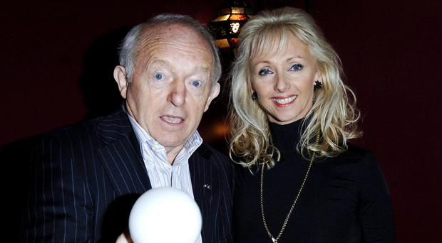 Paul Daniels, left, who died last year, with wife Debbie McGee