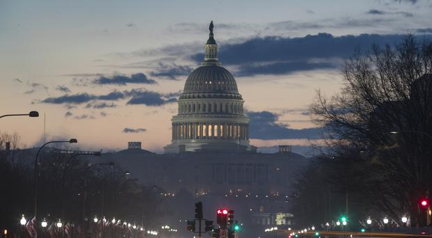The Capitol in Washington DC as the city prepares for Donald Trump's inauguration. (AP/J. Scott Applewhite)