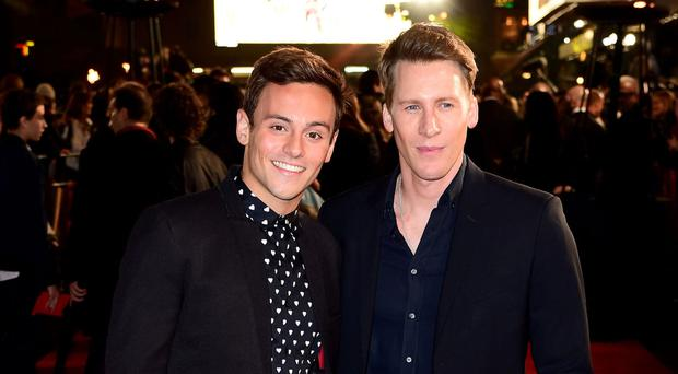 Tom Daley and his fiance Dustin Lance Black