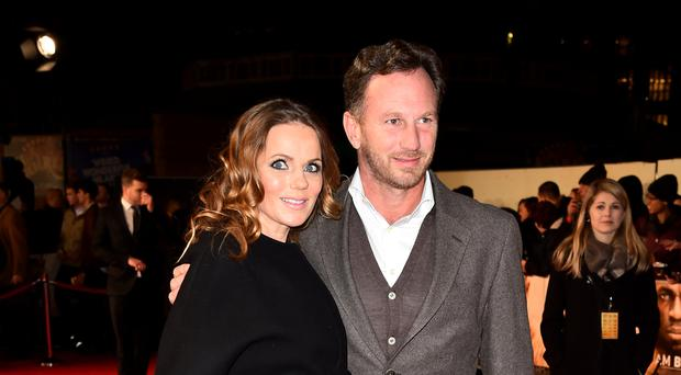 Geri Horner and her husband Christian are celebrating the birth of their son