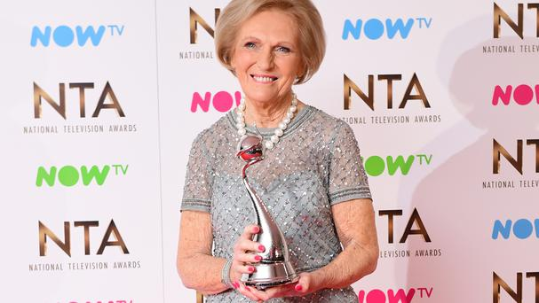 Mary Berry won the best TV judge award