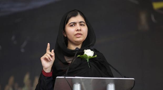 Malala Yousafzai, who was shot on a school bus by Taliban gunmen