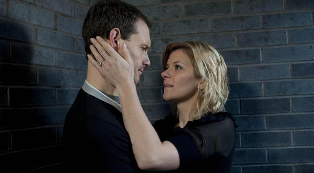 Ben Price's Corrie character Nick Tilsley in a clinch with Leanne Battersby, played by Jane Danson (ITV/PA)