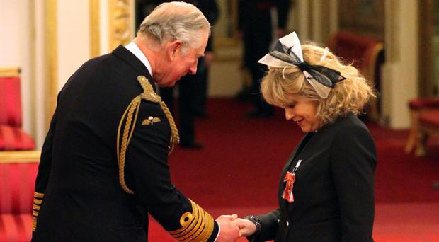 Harry Potter stage producer Sonia Friedman is made an OBE by the Prince of Wales at Buckingham Palace