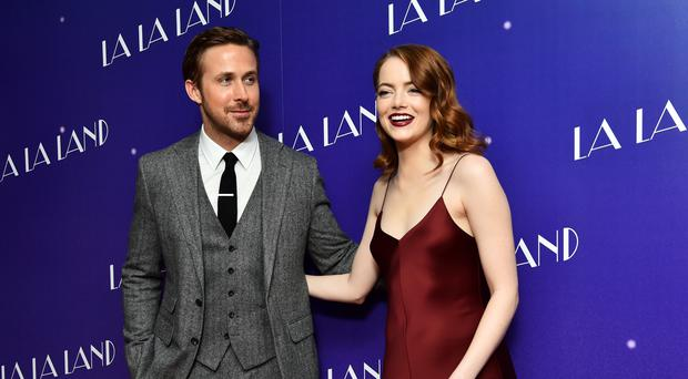 The soundtrack of La La Land, a film starring Ryan Gosling and Emma Stone, has reached the top of the album charts four weeks after its release