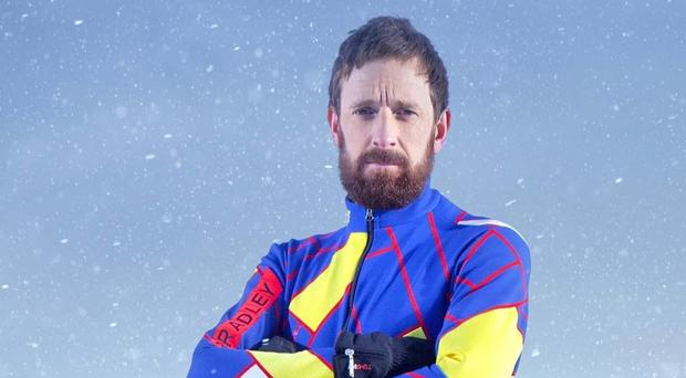Retired cyclist Sir Bradley Wiggins posted a picture on Instagram of his ankle being bandaged after an accident while training for Channel 4 reality show The Jump (Channel 4/PA)