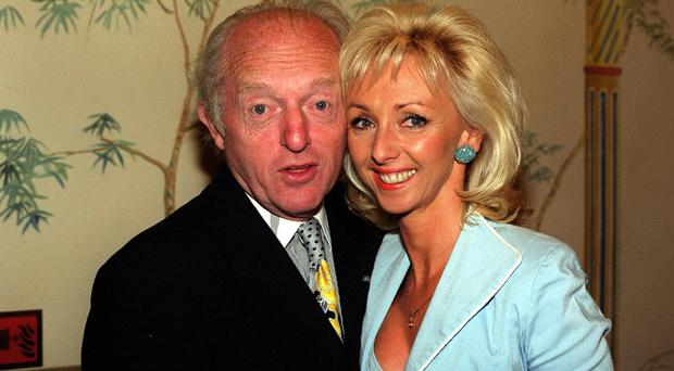 Magician Paul Daniels with his wife and professional partner Debbie McGee