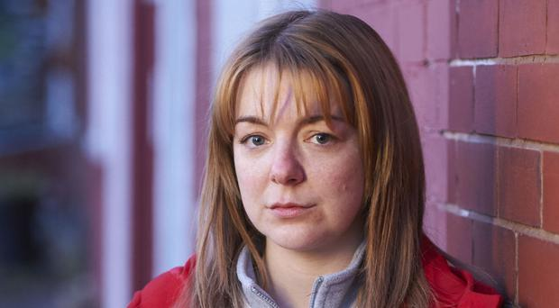 Sheridan Smith as Julie Bushby - the mum who led the community search for nine-year-old Shannon Matthews in 2008 - in the BBC1 drama The Moorside