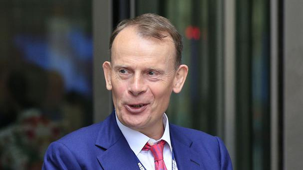 Andrew Marr returned to broadcasting after suffering a stroke