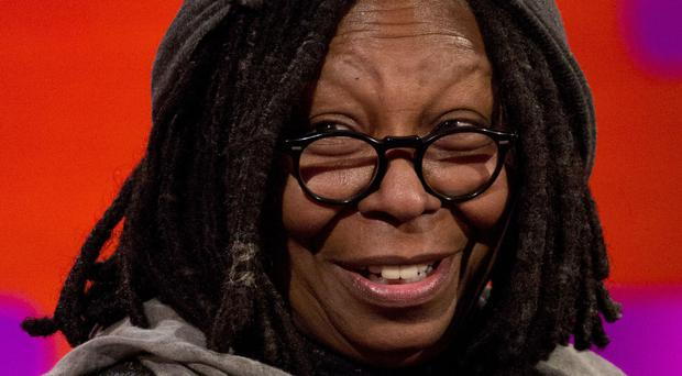 Whoopi Goldberg is on The Graham Norton Show with Fifty Shades star Jamie Dornan