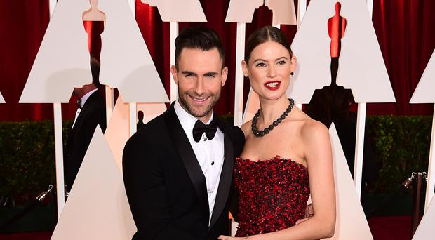 Adam Levine with his wife Behati Prinsloo