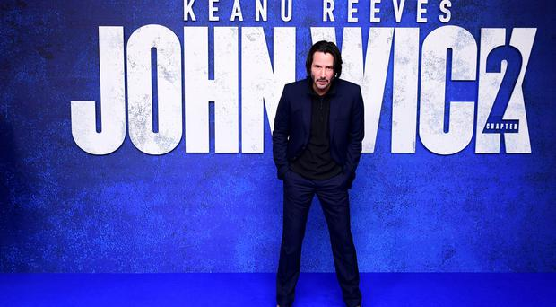 Keanu Reeves at Vue West End, Leicester Square, London