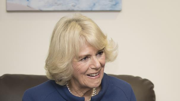 Camilla talked to Mandy Thomas on a visit to the Women's Aid head office in Bristol