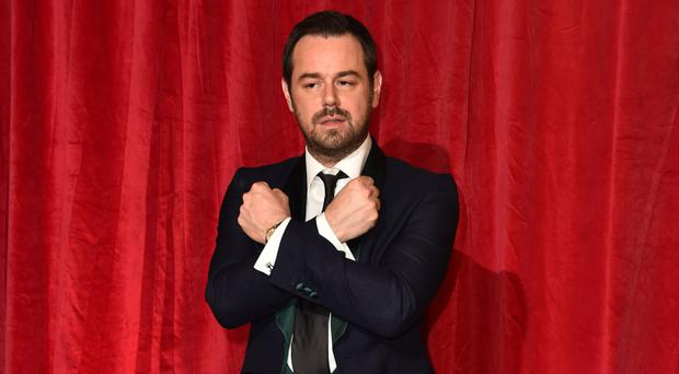 Danny Dyer shows his support for West Ham at the British Soap Awards